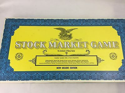Stock Market Game - 1968 Deluxe Ed - Complete - Good Condition - Board Game -