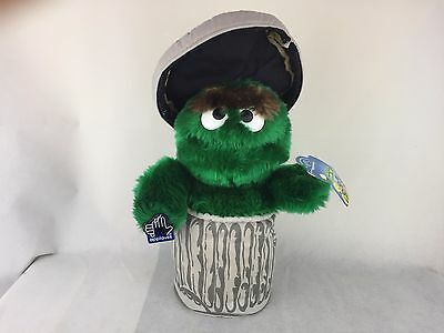 Oscar the Grouch - In Trash Can W/Lid - Plush - Soft - Applause - 12""