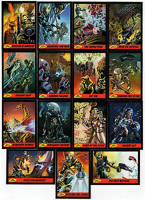 2012 Topps Heritage MARS ATTACKS 50th Anniversary 15 Card New Universe Chase Set