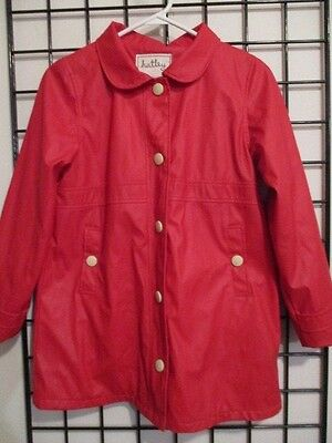 Hatley======Girl's Size 12=======Cute  Red Lined Raincoat=======L@@k