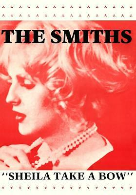 """The Smiths """"Sheila Take A Bow"""" POSTER 1987 Morrissey Johnny Marr Candy Darling"""