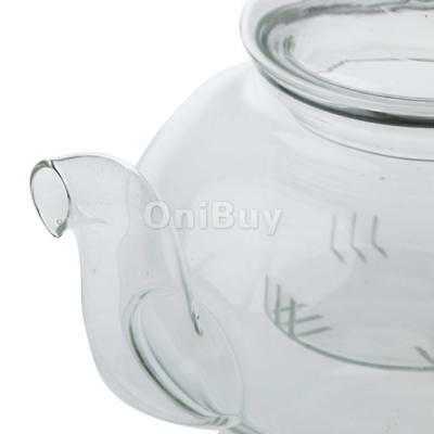 Heat Resistant Glass Teapot with Infuser Coffee Tea Leaf Herbal Set 400ml
