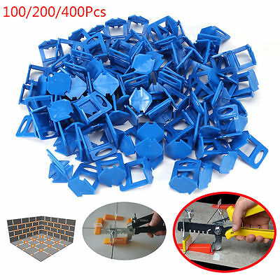 "100/200/400X 1/8"" Tile Leveling System Clips Floor Tile Level Spacer Tiling 3 mm"