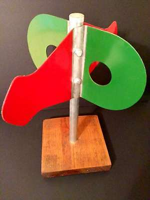 Vintage Railroad Collectible - Train Signal Reflection Switch - Mounted Art