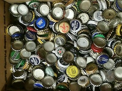 1000+ ASSORTED BEER BOTTLE CAPS for Crafts or Collecting. Free USA Shipping!