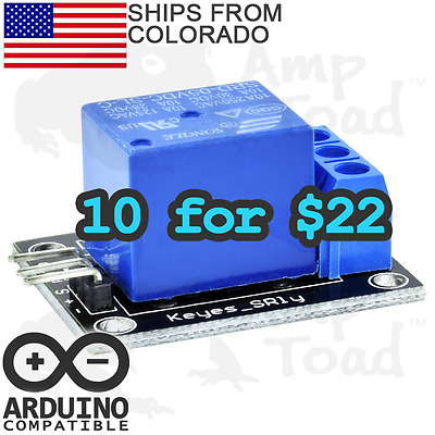 [10 x $22] Single Channel Switch Relay Module for Arduino, Pi, TTL