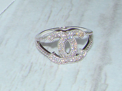 Silver Ring,Cocktail ring,designer Band  size 7 / O