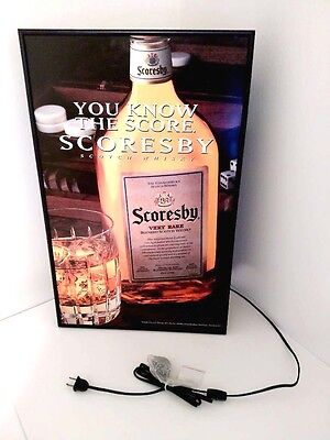 NEW Scoresby Scotch Whisky- Hanging Light Box Bar Sign Man Cave - FREE SHIPPING
