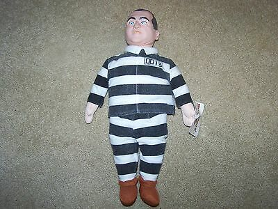 "Vintage The Three Stooges Prisoner Curly 15"" Plush Doll With Tags!!!"