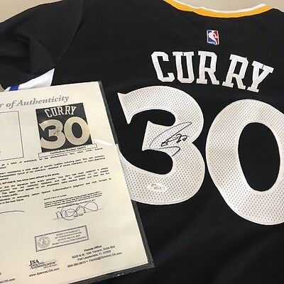 Stephen Curry Signed Autographed Basketball Jersey Warriors Auto JSA Letter COA