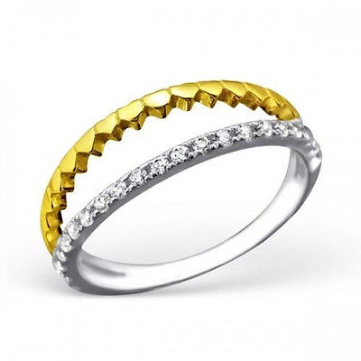 925 Sterling Silver Cubic Zirconia CZ Skinny Stacking Eternity Band