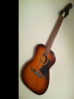 Harmony vintage acoustic guitar H167 USA project 1950's 1960's with case chicago