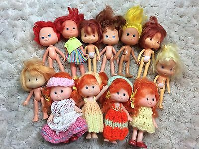 Strawberry Shortcake Dolls Bandai And Fakies Lanard Lot Of 12 Toys Vintage 90s