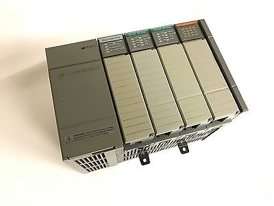 Allen Bradley Slc 500 Plc System With Slc 5/02 Cpu And I/o Modules