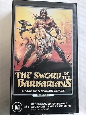 The Sword Of The Barbarians VHS Video Tape Ultra Rare Horror