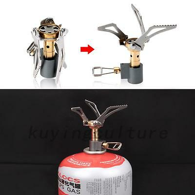 HOT Folding Mini Camping Survival Cooking Furnace Stove Gas Burner Windproof