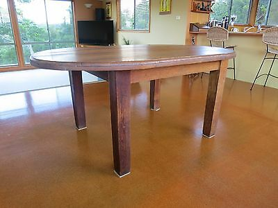 Silky oak dining table - Antique