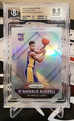D'angelo Russell 2015-16 Panini Prizm Rookie Silver Refractor Rc #322 Bgs 9.5