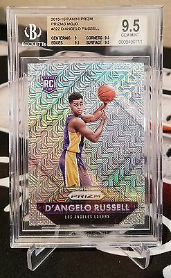 D'angelo Russell 2015-16 Panini Prizm Rookie Mojo Refractor Rc #/25 Sp Bgs 9.5