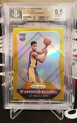 D'angelo Russell 2015-16 Panini Prizm Rookie Gold Refractor Rc #/10 Ssp Bgs 9.5