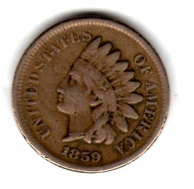USA Indian Head Cent 1859