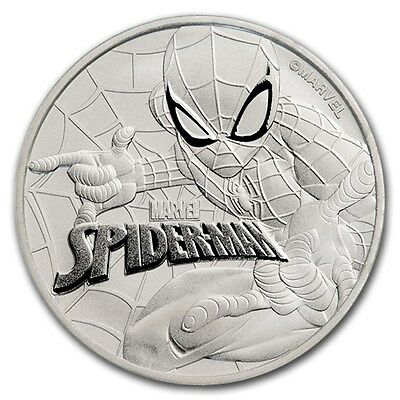 TUVALU 1 Dollar Argent 1 Once Spiderman (TM)  2017 - 1 Oz silver coin