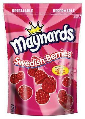 2X Maynards Swedish Berries  Grams! Super Fresh 355X2=710g Bags Fresh fr. Canada