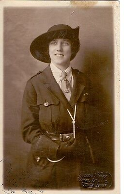 Original 1924 Girl Guides Leader Studio Photo