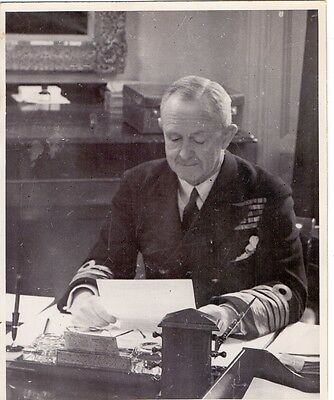 Original 1944 Press Photo of Royal Navy Admiral Sir Andrew Cunningham