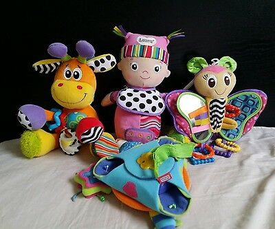 4 x Lamaze Playgro Tiny Love baby pram toys musical mobile