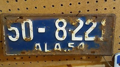 1954 Antique Alabama License Plate ~ 50-8-221 ~ Marshall County