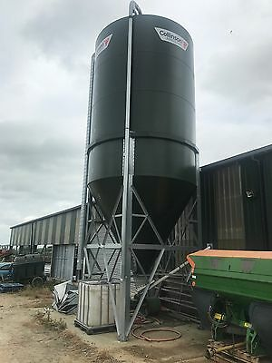 New 31 Tonne Collinsons Feed Silo, Green Powder Coated