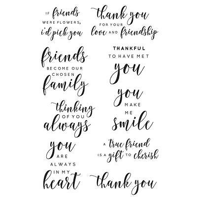 Kaisercraft Clear Stamp Set - BACKGROUND FRIEND SENTIMENTS - CS294