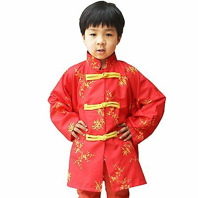 GradPlaza Chinese Traditional long sleeves Tang Suit Costume Red