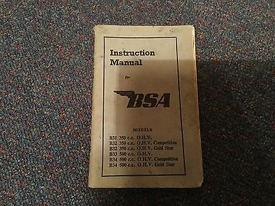 BSA Instruction Manual 72 Pages