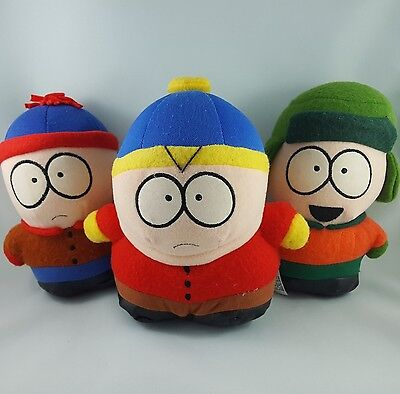 Vintage 1998 Comedy Central South Park Plush Toys Stan+ Cartman+ Kyle Fun 4 All