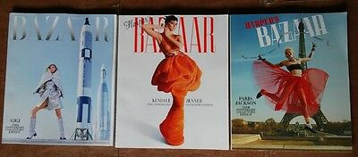 3 Harper's Bazaar 150th ANNIVERSARY COLLECTOR Editions: Jun /July, Apr, May 2017