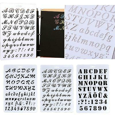 Painting Scrapbooking Letter Alphabet Number Layering Stencils Paper Cards JS