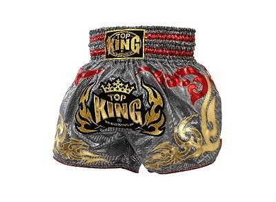 Top King Muay Thai Kick Boxing Shorts Silver/red/gold S, M, L, Xl Aus Stock