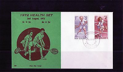 1972 New Zealand Health Stamps Set Of 2 PD Brand FDC, Unaddressed, Good Cond