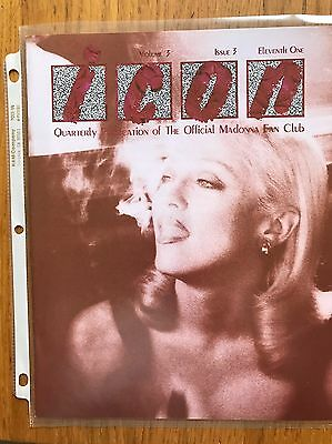 Madonna Icon Magazine Volume 3 Issue 3 Rare Official Fan Club Early Edition