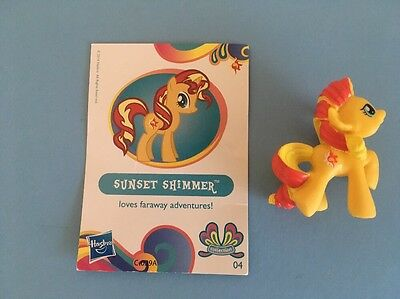 "My Little Pony Blind Bag - Sunset Shimmer - Wave 11 -(2""figure & card)"