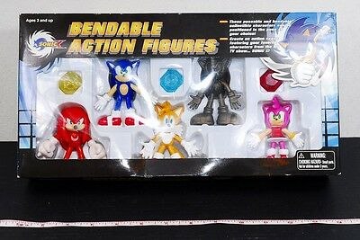 """""""NEW"""" SONIC X BENDABLE ACTION FIGURES from Japan #D176"""
