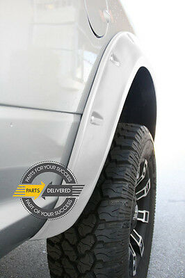 2011-2014 Dodge Ram 1500 Pocket-Riveted Style Bright White Fender Flares 4pcs
