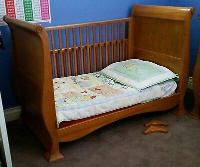 Matching Timber Sleigh Change Table & Sleigh Cot/Toddler Bed/Lounge Cost $1,000+