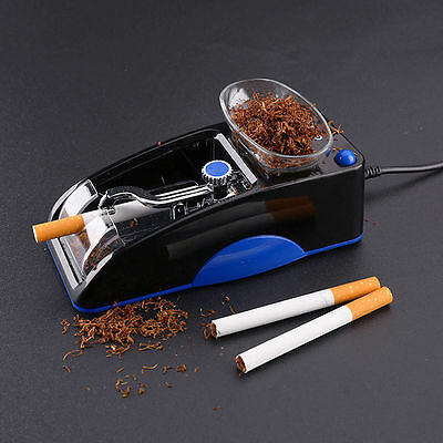 New Blue Electric Automatic Cigarette Maker,Injector Rolling Machine Tobacco UK