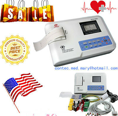 Portable Digital 1-channel Electrocardiograph ECG/EKG Machine 12 leads 2017 HOT.
