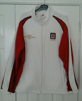 Mens white england on tour rugby jacket (xl)