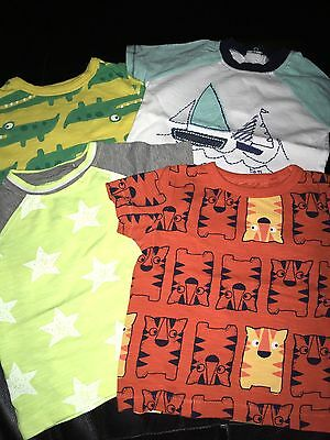 Next Boys 3-6 Months T-shirts Crocodile , Tigers Boats And Stars