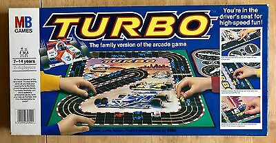 VGC -MB TURBO -Board Game 100% Complete Family Version of Arcade Game